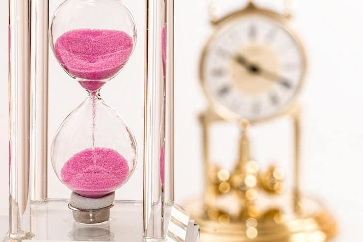 Sanduhr Uhr pink