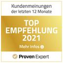 ProvenExpert Siegel Top Empfehlung